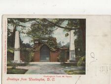 Washington DC Washington Tomb Mt Vernon 1905 U/B USA Postcard 510a