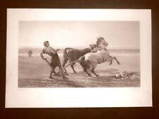 Ulisse che solca la riva del mare Quadro di H. Hardy Acquaforte del 1888