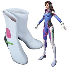 OW Overwatch D.VA DVA loli PU White Boots Shoes Cosplay Costume Replica Cute New