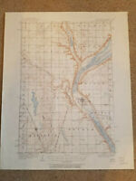 22x29 1916 USGS Topo Map Peever, South Dakota-Minnesota Browns Valley Easter