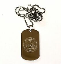 """NEW STAINLESS STEEL  2""""x1-1/8"""" dog tags 19"""" beaded necklace CUSTOM ENGRAVED FREE"""