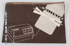 Wollensak T-1500 Recorder Instruction Manual