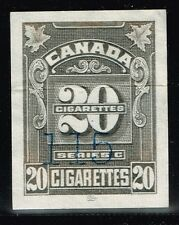 Canada Cigarette Rev. Stamp Used - 20c Grey Imperf (Light Crease) - Lot 101915