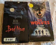 Werewolf Horror Ex-Rental Vhs Bundle The Wolves + Bad Moon Halloween Mold