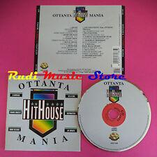 CD Ottanta Hithouse Mania COMPILATION DE LA SOUL KNUCLES no mc vhs dvd (C36)