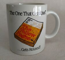 USWEST Direct Yellow Pages Cup Mug 'The One That Gets Used & Reused' 1980s
