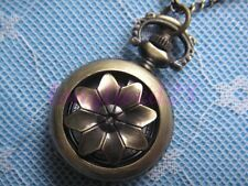 Mini Archaize Brass Turn Flower Pocket Pendant Quartz Watch Cute Gift 1""