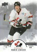 2016-17 Upper Deck Team Canada Juniors Hockey Card #99 Mario Lemieux