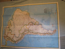 VINTAGE SOUTH AMERICA MAP National Geographic October 1972
