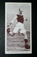 Aston Villa    Callaghan  1930's  Vintage Footballer Photo Card