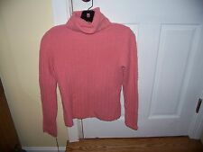 NWT Sarah Spencer Pink Turtleneck Winter Sweater Size S