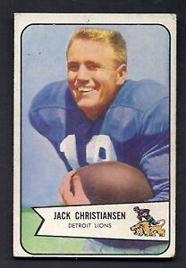 Jack Christiansen Detroit Lions 1954 Bowman Card #100