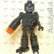 M638 Lego Auto Skeleton Robot Minifigure - Black - NEW
