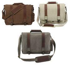 Vintage Pathfinder Laptop Bags - Canvas & Leather Laptops Shoulder Messenger Bag