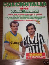 GUERIN SPORTIVO CALCIOITALIA 85/86 FOTO CIFRE SERIE A/B