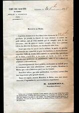 """ISSOUDUN (36) JOURNAL """"L'écho des Marchés / H. GAIGNAULT Directeur"""" en 1926"""