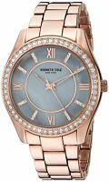 Kenneth Cole Women's Rose Gold-Plated Stainless Steel Quartz Watch KC50739001