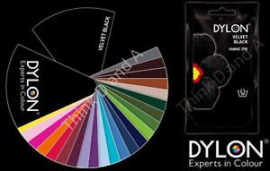 Dylon Intense Velvet Black Fabric and Clothes Hand Dye 50g