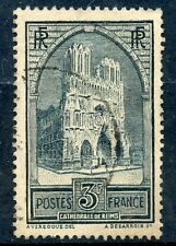 TIMBRE DE FRANCE OBLITERE N° 259 CATHEDRALE DE REIMS Photo non contractuelle