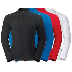 ODLO ORSINO Midlayer 1/2 Zip Herren Fleece Shirt, Skipullover, Outdoorbekleidung