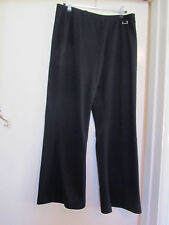 Savoir Stretchy Black Comfy Trousers in Size 14 S / Petite - L28