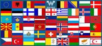 Alle Flaggen von Europa als Aufkleber - 53 Stück - 8,5 x 5,5 cm Sticker WHATABUS