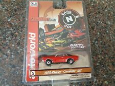 Auto World 1970 Chevy Chevelle Ss Red Slot Racer Car Ho Scale Cars n Coffee