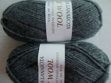Filatura Lanarota Easy Wool yarn, Oxford gray, lot of 2 (145 yds each)