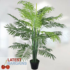 Artificial Pot Plant Phoenix Palm Indoor Fake Foliage Tree House Office Green