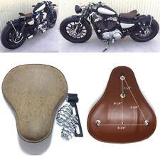 Retro Grain Motorcycle Spring Solo Seat For Honda Rebel 250 300 500 Refit Bobber