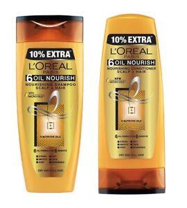 L'oreal Pairs 6 Oil Nourish Nourishing Shampoo Conditioner | 175 ml Each