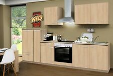 Küchenzeile GÖTEBORG Einbau-Küchenblock mit Elektro-Geräten 300 cm eiche-sonoma