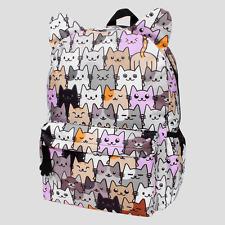Backpack For Girls Kitten Kitty Cat School Supplies Bags Bookbags Pockets NEW