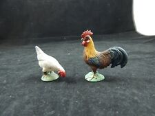 Schleich Rooster  & Chicken Plastic Toy Animal Figure