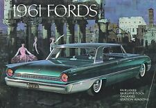 BIG 1961 FORD Brochure / Catalog:FAIRLANE 500,GALAXIE,SUNLINER,390,Station Wagon