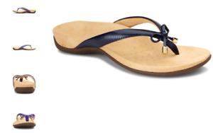 Vionic Bella II Navy Lizard Sandal Flip Flop Women's US sizes 5-11 NEW!!!