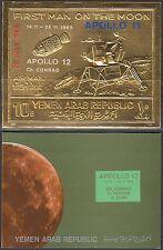 Yemen 1969 ** mi.a1010 B espacio Space Apollo 12, oro foil en Folder [u624]