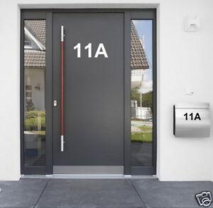 Hausnummer Aufkleber Beschriftung selbstklebende Hausnummer Zahlen Buchstaben