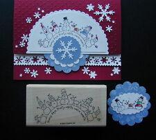 Stampin up stamp Holiday WINTER WONDERLAND SNOWMAN FRIENDS deer CIRCLE su