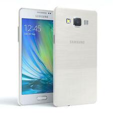 Schutz Hülle für Samsung Galaxy A5 (2015) Brushed Cover Handy Case Weiß