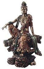 "16.75"" Water & Moon Quan Yin Bodhisattva Statue Sculpture Eastern Kuan Kwan"