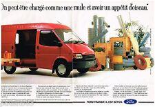 PUBLICITE ADVERTISING 095  1988  FORD   le TRANSIT DIESEL ( 2p)