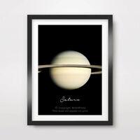 PLANET SATURN Art Print Poster Home Decor A4 A3 A2 Nasa Outer Space Photograph