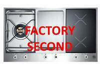 Bertazzoni 90CM Cooktop - Gas,Griddle & Induction PM361IGX Factory 2nd TSV1426