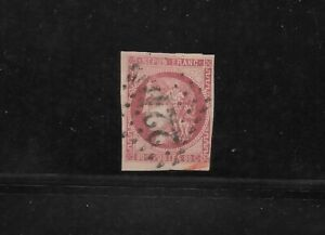 France Scott #48 used 80c rose Ceres head, imperforate, 1870 numeral cancel fine