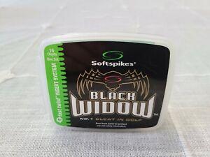 Softspikes Black Widow Fast Twist Insert System Box of 16 Cleats New!