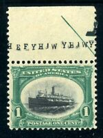 USAstamps Unused VF US 1901 Pan-American Partial Arrow Scott 294 OG MVLH
