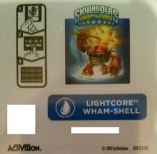 Lightcore Wham-Shell Skylanders Swap Force Sticker/Code Only!