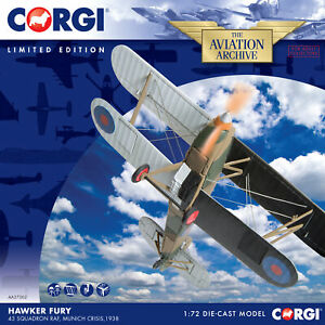 Hawker Fury Corgi Aviation Archive Ex Display