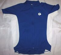 Bicycle Jersey Quest White Blue White Mens Size Large NWOT